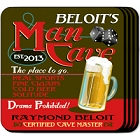 Personalized Man Cave Bar Coasters Sets