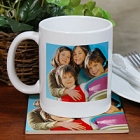 Photo Mug and Photo Coaster Set