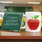 Teacher Chalkboard Personalized Mug and Coaster Set