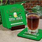 19th Hole Personalized Golf Coaster Set