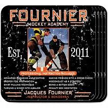Hockey Academy Personalized Beverage Coaster Sets