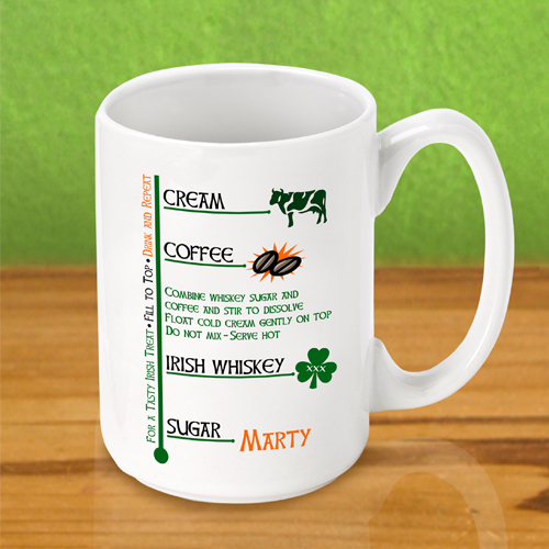 Personalized Ceramic Irish Coffee Mugs