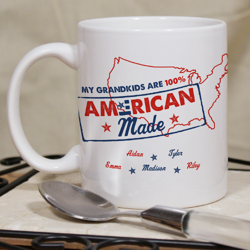 American Made Personalized Patriotic Coffee Mugs