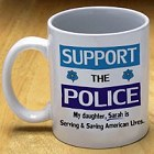 Support the Police Personalized Coffee Mug