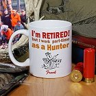 Retired Hunter Personalized Coffee Mug