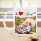 I Love You Mommy Personalized Photo Coffee Mugs