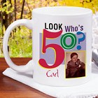 Look Who's Birthday Personalized Photo Coffee Mug
