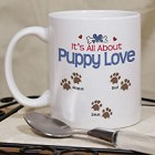 Puppy Love Personalized Paw Prints Pet Coffee Mug