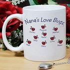 Love Bugs Personalized Mother Ceramic Coffee Mugs