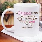 Friendship Personalized Coffee Mug
