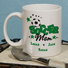 Personalized Soccer Fan Ceramic Coffee Mug