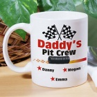 Daddy's Pit Crew Personalized Coffee Mug