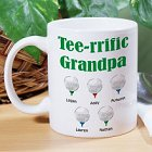 Tee-rrific Golfer Personalized Golfer Coffee Mugs
