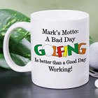 Bad Day Golfing Personalized Golfer Coffee Mugs