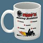 Racing Buddies Personalized Motorcycle Racing Coffee Mug