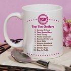Top Ten Ladies Golfers Personalized Golfer Coffee Mugs