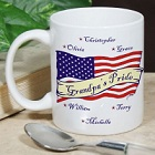 USA American Pride Personalized Ceramic Coffee Mugs