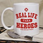 Real Life Heroes Personalized Firefighter Coffee Mugs