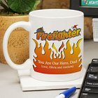 Flames Personalized Firefighter Coffee Mugs