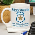 Personalized Police Officer Coffee Mug