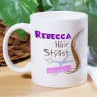 Personalized Hair Stylist Coffee Mug