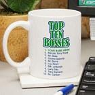 Top Ten Bosses Personalized Coffee Mugs