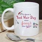 Never A Bad Hair Day Personalized Hair Stylist Coffee Mug