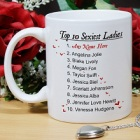 Top 10 Sexiest Women Personalized Coffee Mug