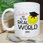 Off To The Real World Personalized Graduation Coffee Mugs