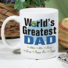 World's Greatest Dad Personalized Coffee Mugs