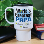 World's Greatest Dad Personalized Travel Mugs