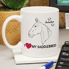 I Love My Horse Personalized Horse Coffee Mug
