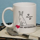 I Love My Cat Personalized Coffee Mug