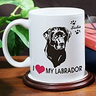 I Love My Dog Personalized Dog Breed Coffee Mug