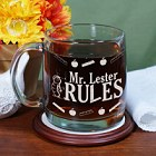 My Teacher Rules Engraved Glass Teacher Mug