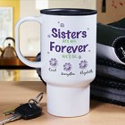 Personalized Sisters Forever Travel Mug