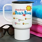 Personalized Beach Bums Travel Mugs