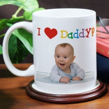 I Love You Personalized Photo Coffee Mugs