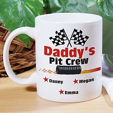 Racing Pit Crew Personalized Coffee Mugs