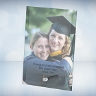Color Imprinted Beveled Jade Glass Graduation Photo Plaque