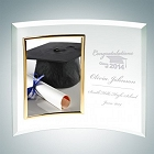 Jade Glass Academic Curved Vertical Gold Photo Frames