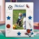 Personalized All Star Sports Ceramic Photo Frames
