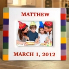 Sonoma Rainbow Personalized Picture Frames