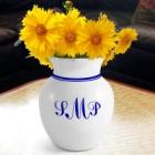 Monogrammed Classic Stoneware Vase