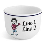 Personalized Rock n Roll Icon Ice Cream Bowls