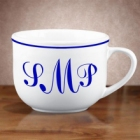 Monogrammed 20 oz Latte Coffee Mugs