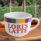 Personalized Sanoma Rainbow Latte Mug