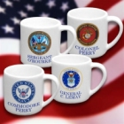 Personalized US Military Coffee Mugs
