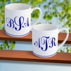 Monogrammed Mugs - Set of Two