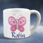 Girls Personalized Butterfly Cup